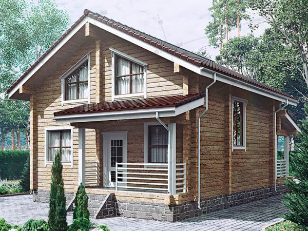 Дом из профилированного бруса Поляны