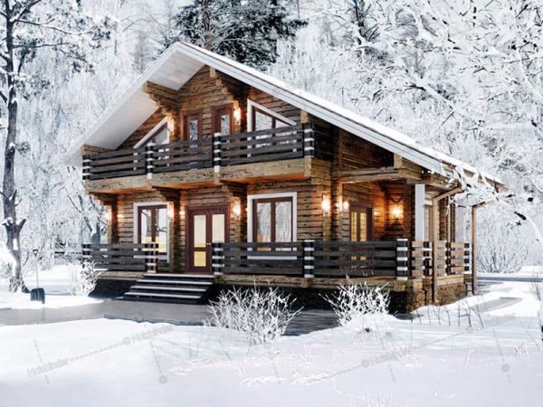 Дом из профилированного бруса Шале Горки