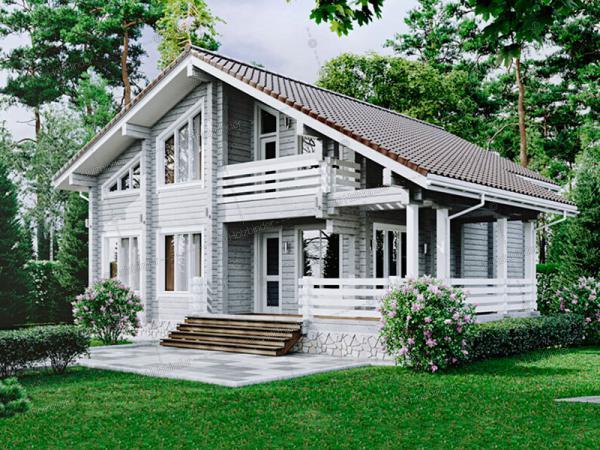 Дом из профилированного бруса Тайга