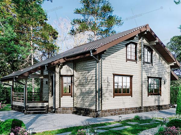 Дом из профилированного бруса Волга-Волга