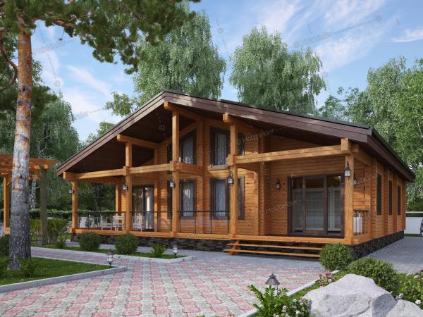Дом из клееного бруса Альпенхоф-2