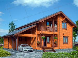 Дом из клееного бруса Северные Сосны