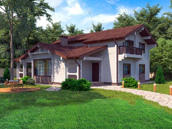Дом из клееного бруса Усадьба Остермана