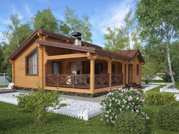 Дом из клееного бруса Зеленый Берег