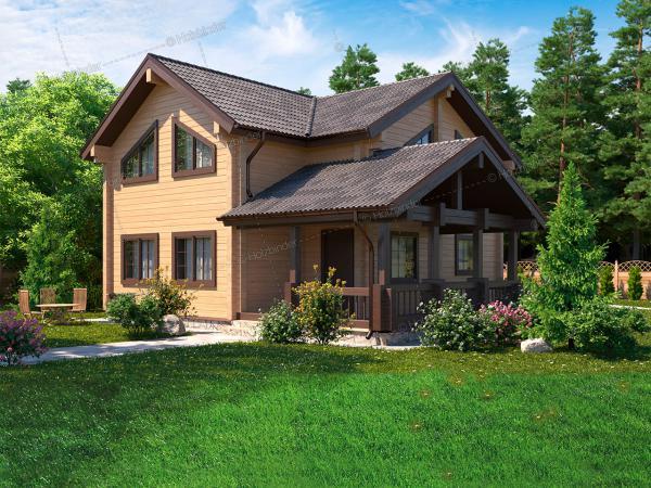 Дом из профилированного бруса Соколиное Гнездо