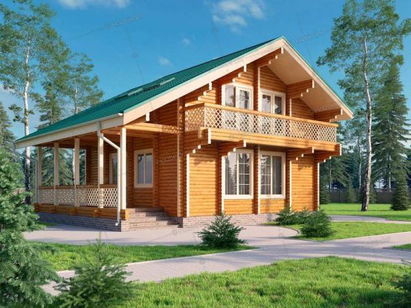 Дом из профилированного бруса Карелия-2