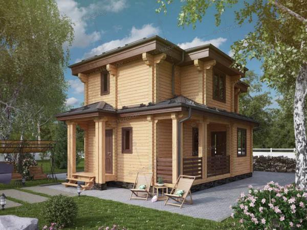 Дом из профилированного бруса Махаон