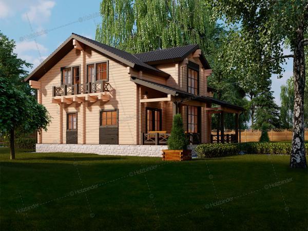 Дом из профилированного бруса Мон Шер