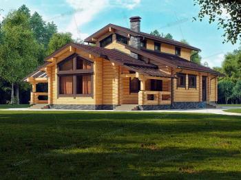 Дом из клееного бруса Каскад-2