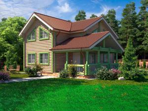 Дом из бревна Соколиное Гнездо