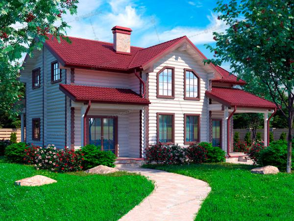 Дом из бревна Кранфорс-2