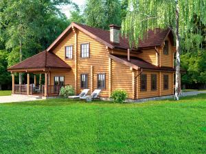 Дом из бревна Литератор