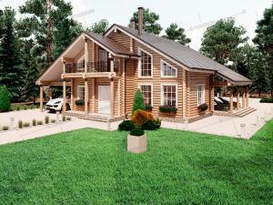 Дом из бревна Маршал
