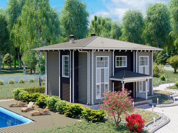 Дом из бревна Ностальгия