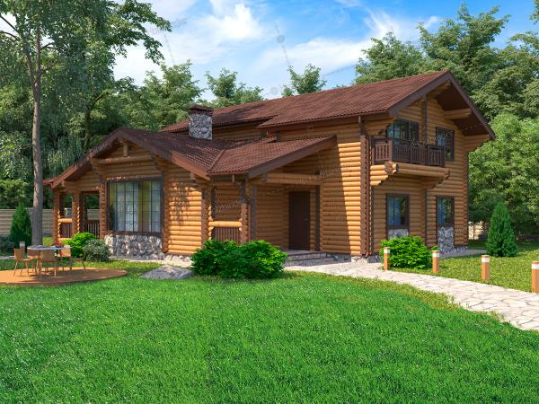 Дом из бревна Боярин