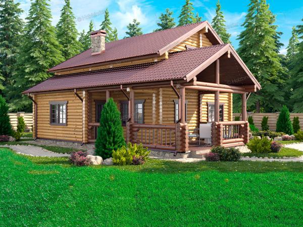 Дом из бревна Серебряный Берег