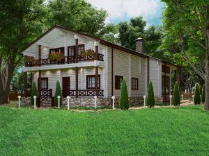 Дом из бревна Усадьба Трубецких