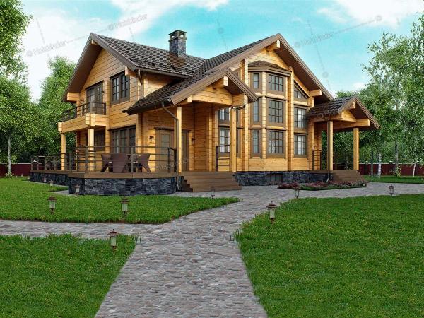 Дом из клееного бруса Традиция