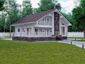 Дом из профилированного бруса Блик