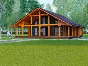Дом из профилированного бруса Бунгарт