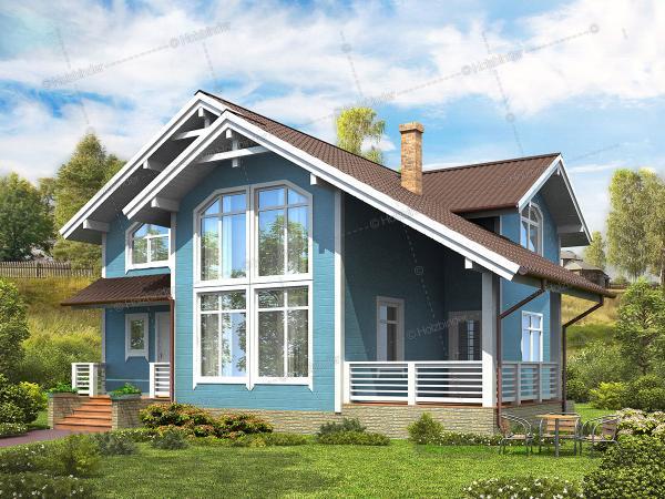 Дом из профилированного бруса Гранвиль