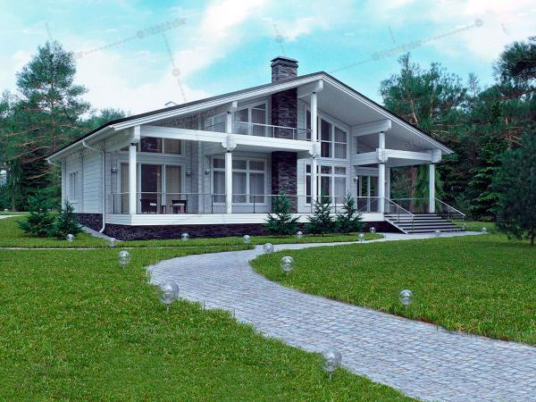 Дом из профилированного бруса Контраст