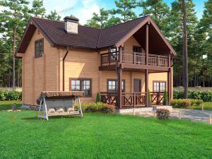 Дом из профилированного бруса Дом Удачи