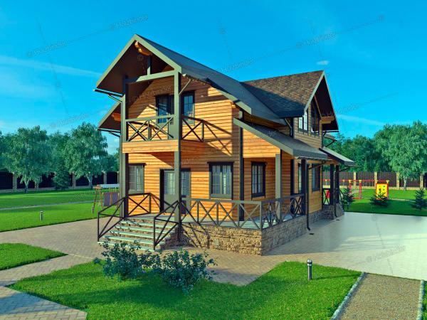 Дом из профилированного бруса Тихая Гавань