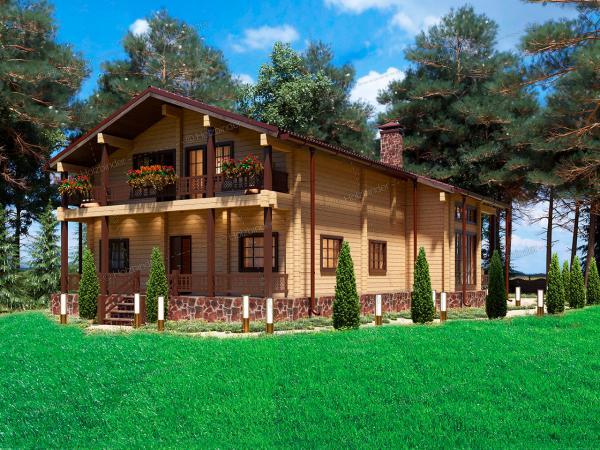 Дом из профилированного бруса Усадьба Трубецких