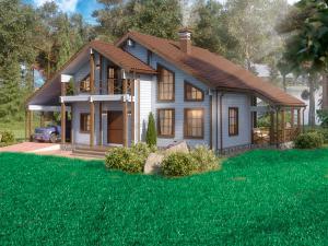 Дом из профилированного бруса Well House