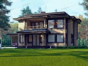 Дом из клееного бруса Эсперанс