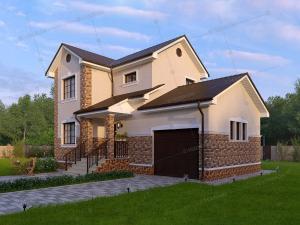 Дом из профилированного бруса Рига-2